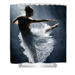 Solitaire Shower Curtain by Richard Young