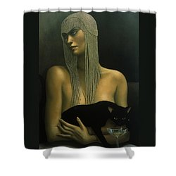 Solitare Shower Curtain by Jane Whiting Chrzanoska