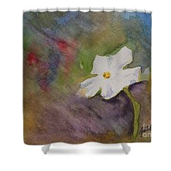 Solitary Flower Shower Curtain by Gretchen Bjornson