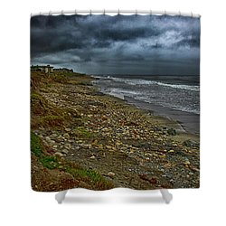 Solitude  Beach Shower Curtain by Joseph Hollingsworth