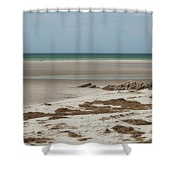 Solitude By The Seashore Shower Curtain by Michelle Wiarda