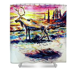 Solitude Caribou Shower Curtain