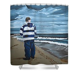 Solitude Shower Curtain by Donna Blossom