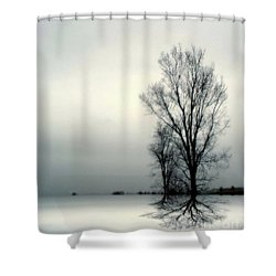 Solitude Shower Curtain by Elfriede Fulda