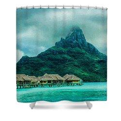 Solitude In Bora Bora Shower Curtain