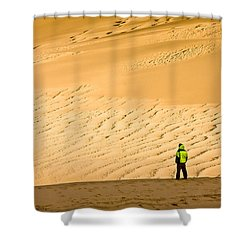 Shower Curtain featuring the photograph Solitude In The Dunes by Rikk Flohr