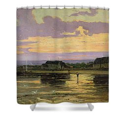 Solitude In The Evening Shower Curtain by Marie Joseph Leon Clavel Iwill