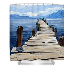 Crooked Dock  Shower Curtain