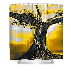 Shower Curtain featuring the digital art Solitude by Yul Olaivar
