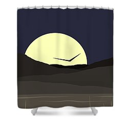 Shower Curtain featuring the digital art Solo Flight - Vertical by Val Arie