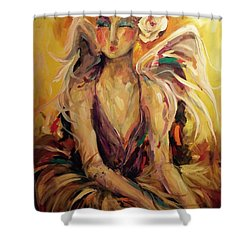 Solo Shower Curtain by Heather Roddy