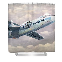 Solo Starfighter Shower Curtain by Douglas Castleman