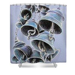 Solstice Bells Shower Curtain by Michael Beckett