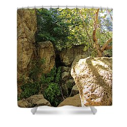 Solstice Canyon Waterfalls Shower Curtain