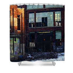 Solvay Coke Shower Curtain by David Blank