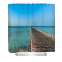 Soma Bay Sea Scape Sunrise Mood Shower Curtain