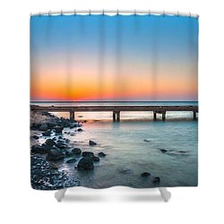 Soma Bay Sunrise Shower Curtain