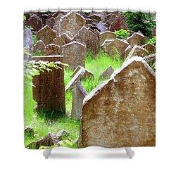 Somber Granite Shower Curtain by Patrick Murphy