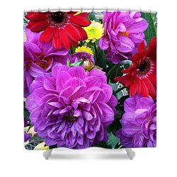 Some Fall Flowers For Inspiration! Shower Curtain by Jennifer Beaudet