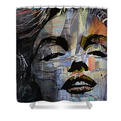 Shower Curtain featuring the painting Some Like It Hot Retro by Paul Lovering