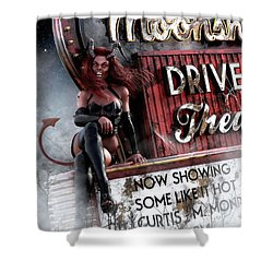 Shower Curtain featuring the digital art Some Like It Hot by Shanina Conway