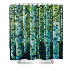 Shower Curtain featuring the painting Some Summer Shade by Melinda Cummings