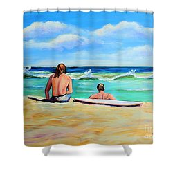 Shower Curtain featuring the painting Some Things Never Change by Patricia Piffath