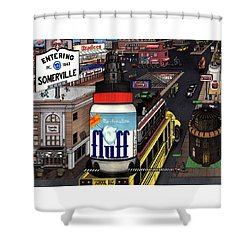 A Strange Day In Somerville  Shower Curtain by Richie Montgomery