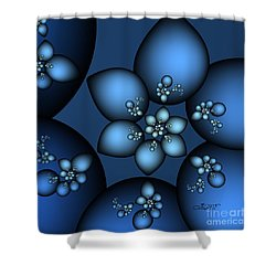 Something Blue Shower Curtain by Jutta Maria Pusl