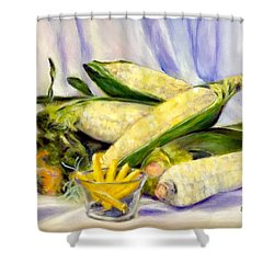 Something Corny Shower Curtain