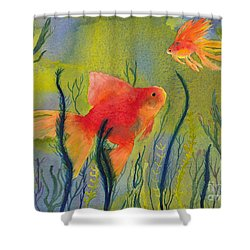 Something Fishy Going On Shower Curtain