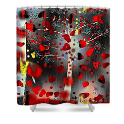 Shower Curtain featuring the digital art Lift Me Up by Yul Olaivar