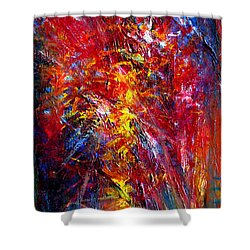 Something II Shower Curtain by Wojtek Kowalski