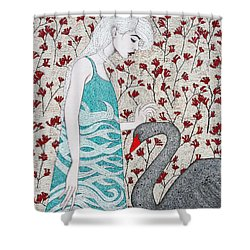 Shower Curtain featuring the mixed media Something Magical by Natalie Briney