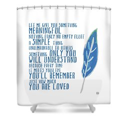 Shower Curtain featuring the painting Something Meaningful by Lisa Weedn