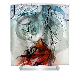Shower Curtain featuring the digital art Something New Comes To Life By Nico Bielow by Nico Bielow