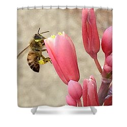 Something To Buzz About Shower Curtain by Russell Keating