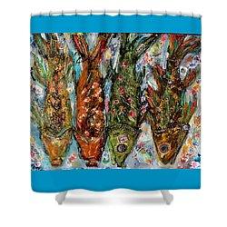 Somethin's Fishy Shower Curtain by M Stuart