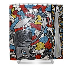 Sometimes I Feel I'm Loosing Part Of Myself Shower Curtain