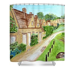 Somewhere In Cotswolds South West England Shower Curtain