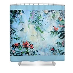 Somewhere In Paradise Shower Curtain