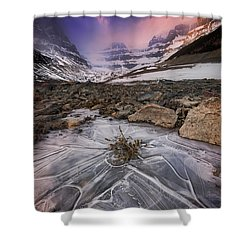 Somewhere In The Canadian Rockies Shower Curtain