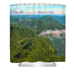 Shower Curtain featuring the photograph Over Alaska - June  by Madeline Ellis