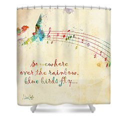 Somewhere Over The Rainbow Shower Curtain by Nikki Smith