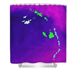 Shower Curtain featuring the digital art Somewhere There Is Magic by Yshua The Painter