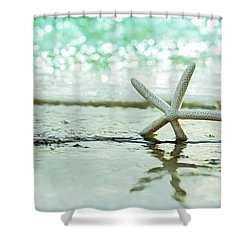 Somewhere You Feel Free Shower Curtain by Laura Fasulo