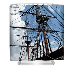 Son Of A Son Of A Sailor Quote - Tribute To The Bounty Shower Curtain