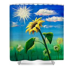 Shower Curtain featuring the painting Sonflower by Lisa DuBois