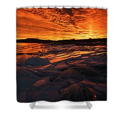 Song Of Ice And Fire Shower Curtain by Justin Johnson