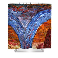 Shower Curtain featuring the painting Song Of Nature by Vadim Levin